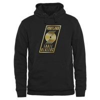 Portland Trail Blazers Gold Collection Pullover Hoodie Black