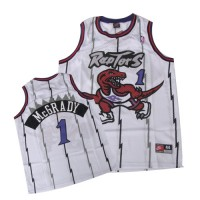 Raptors #1 Tracy McGrady White Swingman Stitched NBA Jersey