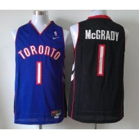 Raptors #1 Tracy Mcgrady BlackPurple Nike Throwback Stitched NBA Jersey