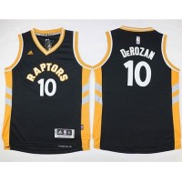 Raptors #10 DeMar DeRozan Black Youth Stitched NBA Jersey