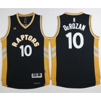 Raptors #10 DeMar DeRozan BlackGold Stitched NBA Jersey