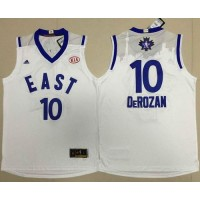 Raptors #10 DeMar DeRozan White 2016 All Star Stitched NBA Jersey