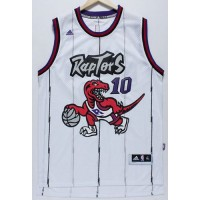 Raptors #10 DeMar DeRozan White Throwback Stitched NBA Jersey