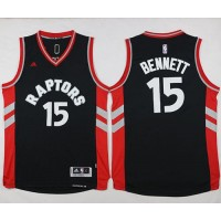Raptors #15 Anthony Bennett Black Stitched NBA Jersey