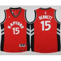 Raptors #15 Anthony Bennett Red Stitched NBA Jersey