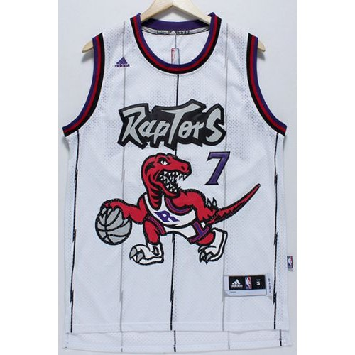 new product 6ab1c a4bfc Raptors #7 Kyle Lowry White Throwback Stitched NBA Jersey