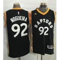 Raptors #92 Lucas Nogueira BlackGold Stitched NBA Jersey
