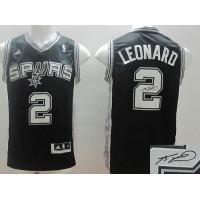 Revolution 30 Autographed Spurs #2 Kawhi Leonard Black Stitched NBA Jersey