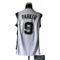 Revolution 30 Autographed Spurs #9 Tony Parker White Stitched NBA Jersey