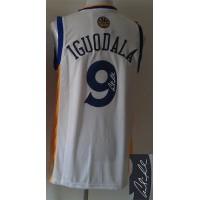 Revolution 30 Autographed Warriors #9 Andre Iguodala White Stitched NBA Jersey