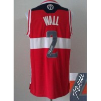 Revolution 30 Autographed Wizards #2 John Wall Red Stitched NBA Jersey