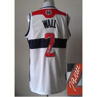 Revolution 30 Autographed Wizards #2 John Wall White Stitched NBA Jersey