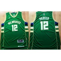 Revolution 30 Bucks #12 Jabari Parker Green Stitched NBA Jersey
