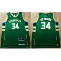 Revolution 30 Bucks #34 Giannis Antetokounmpo Green Stitched NBA Jersey