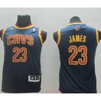 Revolution 30 Cavaliers #23 LeBron James Dark Blue Stitched Youth NBA Jersey