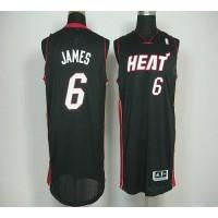Revolution 30 Heat #6 LeBron James Black Stitched NBA Jersey