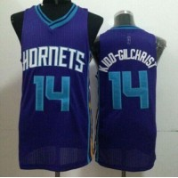 Revolution 30 Hornets #14 Michael Kidd-Gilchrist Purple Stitched NBA Jersey