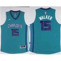 Revolution 30 Hornets #15 Kemba Walker Light Blue Stitched NBA Jersey