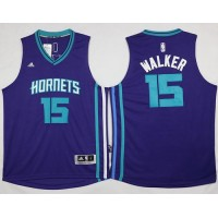 Revolution 30 Hornets #15 Kemba Walker Purple Stitched NBA Jersey