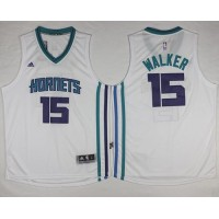 Revolution 30 Hornets #15 Kemba Walker White Stitched NBA Jersey
