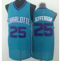 Revolution 30 Hornets #25 Al Jefferson Light Blue Stitched NBA Jersey