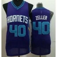 Revolution 30 Hornets #40 Cody Zeller Purple Stitched NBA Jersey
