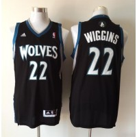 Revolution 30 Timberwolves #22 Andrew Wiggins Black Stitched NBA Jersey