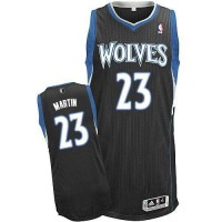 Revolution 30 Timberwolves #23 Kevin Martin Black Stitched NBA Jersey