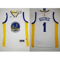 Revolution 30 Warriors #1 Ognjen Kuzmic White Stitched NBA Jersey