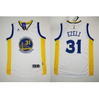 Revolution 30 Warriors #31 Festus Ezeli White Stitched NBA Jersey