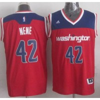 Revolution 30 Wizards #42 Nene Red Stitched NBA Jersey