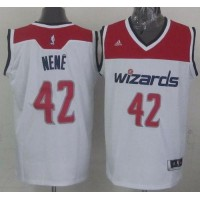 Revolution 30 Wizards #42 Nene White Stitched NBA Jersey