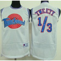 Space Jam Tune Squad 13 Tweety White Stitched Basketball Jersey