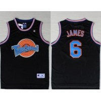 Space Jam Tune Squad #6 James Black Stitched Basketball Jersey