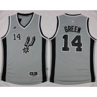 Spurs #14 Danny Green Grey Alternate Stitched NBA Jersey