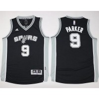 Spurs #9 Tony Parker Black Youth Stitched NBA Jersey