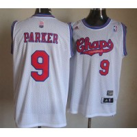Spurs #9 Tony Parker White ABA Hardwood Classic Stitched NBA Jersey