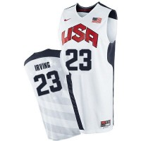 Team USA #23 Kyrie Irving White 2012 Olympics Stitched NBA Jersey