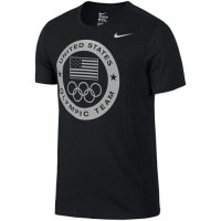 Team USA Nike Dri-Blend Logo Performance T-Shirt Charcoal
