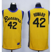 Teen Wolf Beavers #42 Scott Howard Gold Werewolf Stitched Basketball Jersey