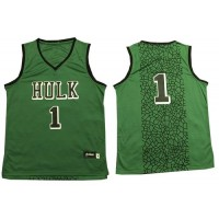 The Hulk #1 Green Stitched Basketball Jersey
