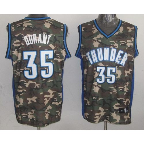ad9b1e589f5 Thunder  35 Kevin Durant Camo Stealth Collection Stitched NBA Jersey