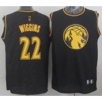 Timberwolves #22 Andrew Wiggins Black Precious Metals Fashion Stitched NBA Jersey