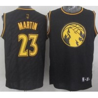 Timberwolves #23 Kevin Martin Black Precious Metals Fashion Stitched NBA Jersey
