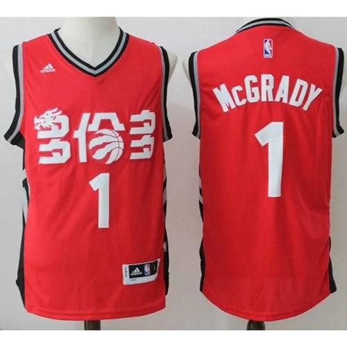 55bc3cd2713f Toronto Raptors  1 Tracy Mcgrady Red Slate Chinese New Year Stitched NBA  Jersey