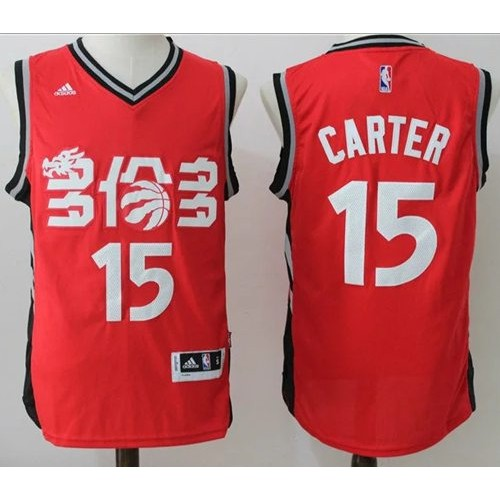 9c7aa1a01 Toronto Raptors  15 Vince Carter Red Slate Chinese New Year Stitched NBA  Jersey