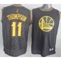Warriors #11 Klay Thompson Black Precious Metals Fashion Stitched NBA Jersey
