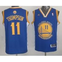 Warriors #11 Klay Thompson Blue Stitched NBA Jersey