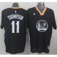 Warriors #11 Klay Thompson New Black Alternate Stitched NBA Jersey