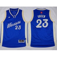 Warriors #23 Draymond Green Blue 2015-2016 Christmas Day Stitched Youth NBA Jersey